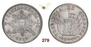 ARGENTINA  CORDOBA -   4 Reales 1852.   Kr. ...