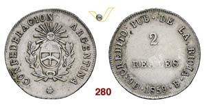 ARGENTINA  LA RIOJA -   2 Reales 1859 B.   ...