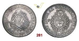 ARGENTINA  LA RIOJA -   8 Reales 1838 R.   ...