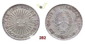ARGENTINA  RIO DE LA PLATA -   8 Reales 1828 ...