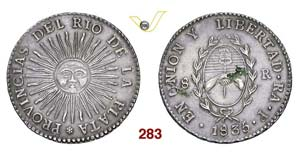 ARGENTINA  RIO DE LA PLATA -   8 Reales 1835 ...
