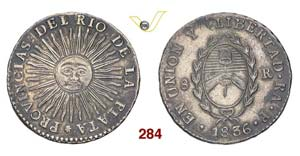 ARGENTINA  RIO DE LA PLATA -   8 Reales 1836 ...