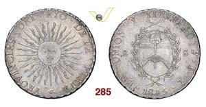 ARGENTINA  RIO DE LA PLATA -   8 Soles 1815 ...