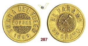 ARGENTINA  TIERRA DEL FUEGO -   Gramo 1889.  ...