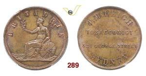 AUSTRALIA  SYDNEY -   Penny s.d. (1862), ...