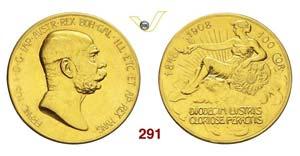 AUSTRIA - FRANZ JOSEF I  (1848-1916)  100 ...