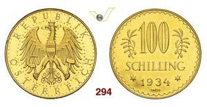 AUSTRIA - REPUBBLICA - 100 Schilling 1934.   ...