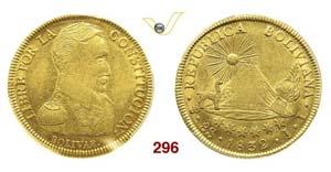 BOLIVIA - REPUBBLICA  (1825-...)  8 Scudos ...