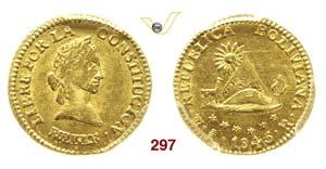 BOLIVIA - REPUBBLICA  (1825-...)  1/2 Scudo ...