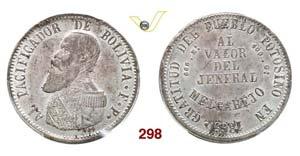 BOLIVIA - REPUBBLICA  (1825-...)  Melgarejo ...