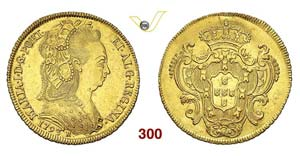 BRASILE - MARIA I  (1786-1799)  6400 Reis ...