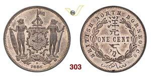 BRITISH NORTH BORNEO - 1 Cent. 1886 H.   Kr. ...