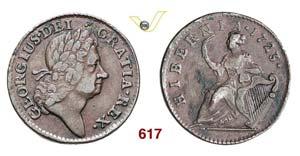 AMERICA - 1/2 Penny 1723 Hibernia.   Kr. 26  ...