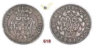 ANGOLA - MARIA I e PEDRO III  (1777-1786)  4 ...