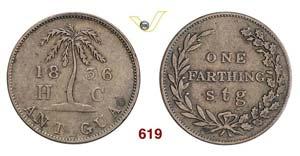 ANTIGUA & BARBUDA - 1 Farthing 1836 (Hannay ...