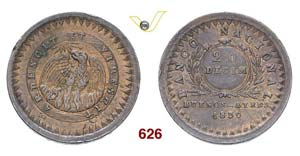 ARGENTINA  BUENOS AIRES -   20 Decimos 1830, ...
