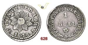 ARGENTINA  CORDOBA -   1 Real 1848.   Kr. ...