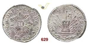 ARGENTINA  CORDOBA -   2 Reales 1849.   Kr. ...
