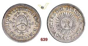 ARGENTINA  RIO DE LA PLATA -   2 Soles 1825 ...