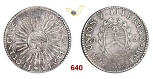 ARGENTINA  RIO DE LA PLATA -   4 Soles 1832 ...