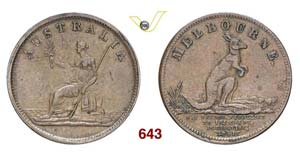AUSTRALIA  MELBOURNE -   1/2 Penny 1851, ...