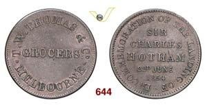 AUSTRALIA  MELBOURNE -   1/2 Penny 1854, ...