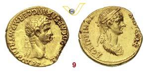 CLAUDIO  (41-54)  Aureo.  D/ Testa ...