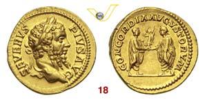 SETTIMIO SEVERO  (193-211)  Aureo.  D/ ...