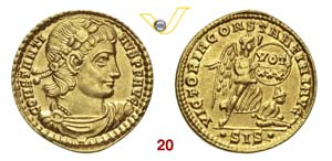 COSTANTINO II  (337-340)  Solido, Siscia.  ...