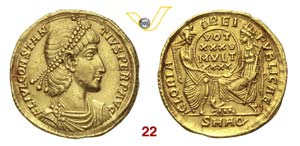 COSTANZO II  (337-361)  Solido, Aquileia.  ...