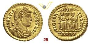 GRAZIANO  (367-383)  Solido, Treviri.  D/ ...