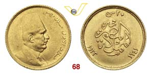 EGITTO  FUAD  (1917-1936)  20 Piastre 1923.  ...