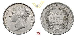 EST INDIA  VITTORIA  (1837-1901)  Rupia ...