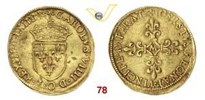 FRANCIA  CARLO IX  (1560-1574)  Scudo doro ...