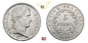 FRANCIA  NAPOLEONE I  (1805-1814)  5 Franchi ...