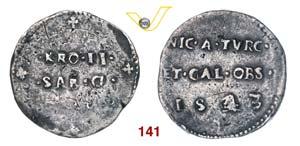 CARLO II  (1504-1553)  Testone 1543 coniato ...