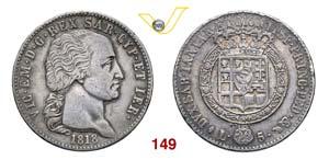 VITTORIO EMANUELE I  (1802-1821)  5 Lire ...