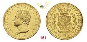 CARLO FELICE  (1821-1831)  40 Lire 1825 ...