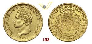 CARLO FELICE  (1821-1831)  20 Lire 1827 ...