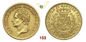 CARLO FELICE  (1821-1831)  20 Lire 1828 ...