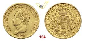 CARLO FELICE  (1821-1831)  20 Lire 1829 ...