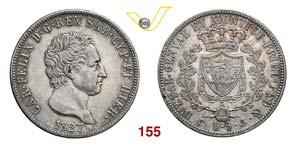 CARLO FELICE  (1821-1831)  5 Lire 1827 ...