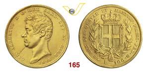 CARLO ALBERTO  (1831-1849)  100 Lire 1836 ...