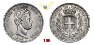 CARLO ALBERTO  (1831-1849)  2 Lire 1846 ...