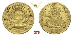 GENOVA  DOGI BIENNALI  (1528-1797)  96 Lire ...