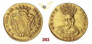 LUCCA  REPUBBLICA  (1369-1799)  Doppia 1750. ...