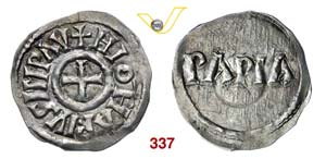 PAVIA  LOTARIO I  (840-855)  Denaro (1,50 g; ...