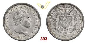 CARLO FELICE  (1821-1831)  2 Lire 1827 ...