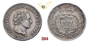 CARLO FELICE  (1821-1831)  50 Centesimi 1827 ...