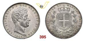 CARLO ALBERTO  (1831-1849)  5 Lire 1847 ...